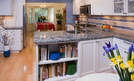 Granite Countertops, Laminate Flooring, Cabinet Makeover