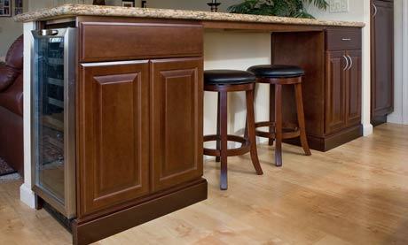 Custom Cabinets, Hardwood Floors